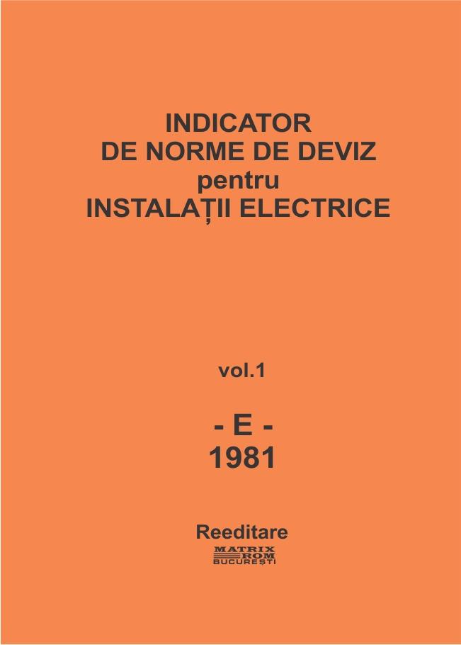 Indicator de norme de deviz pentru instalatii electrice