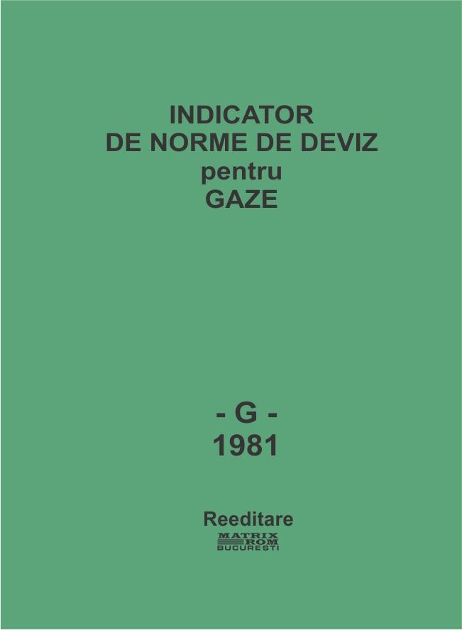 Indicator de norme de deviz pentru gaze