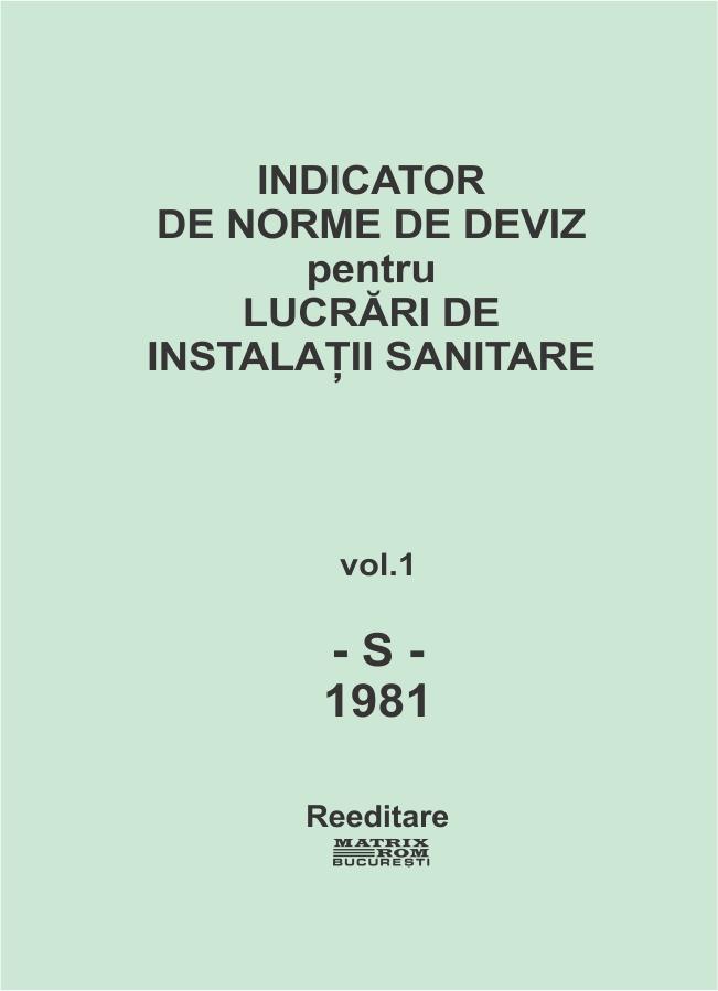 Indicator de norme de deviz pentru lucrari de instalatii sanitare