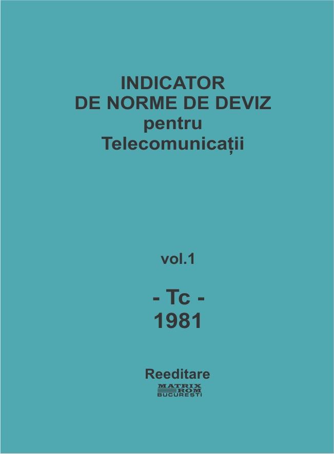Indicator de norme de deviz pentru telecomunicatii
