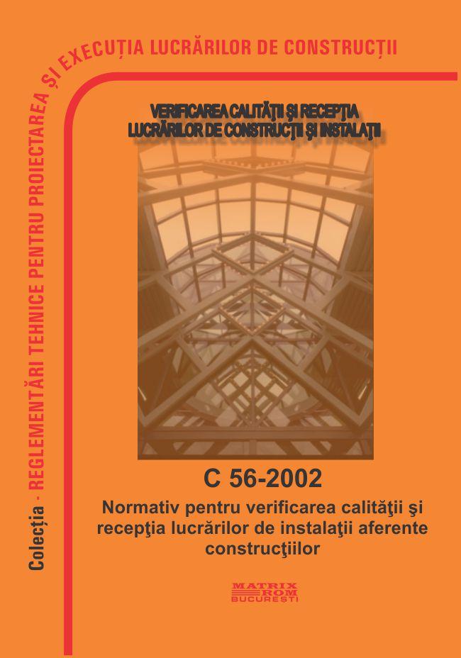 Normativ pentru verificarea calitatii si receptia lucrarilor de instalatii aferente constructiilor