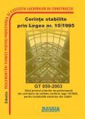 Ghid privind criteriile de performanta ale cerintelor de calitate conform legii 10/1995 pentru instalatiile electrice din cladiri