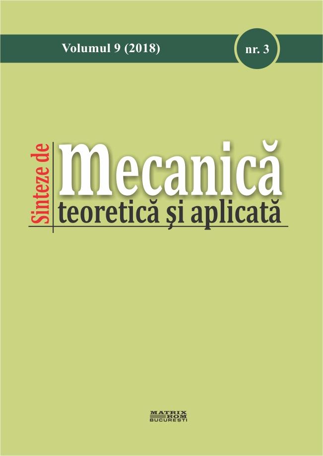 Sintea de Mecanica teoretica si aplicata Vol. 9 nr. 3