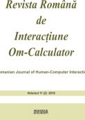 Revista Romana de Interactiune Om-Calculator - vol. 11 (2)