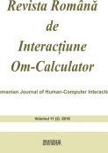Revista Romana de Interactiune Om-Calculator - vol. 11 (2)