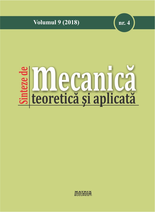 Sinteze de mecanica si teorie aplicatia vol. 9 nr. 4